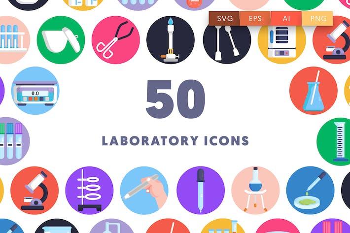 50 Laboratory Icons