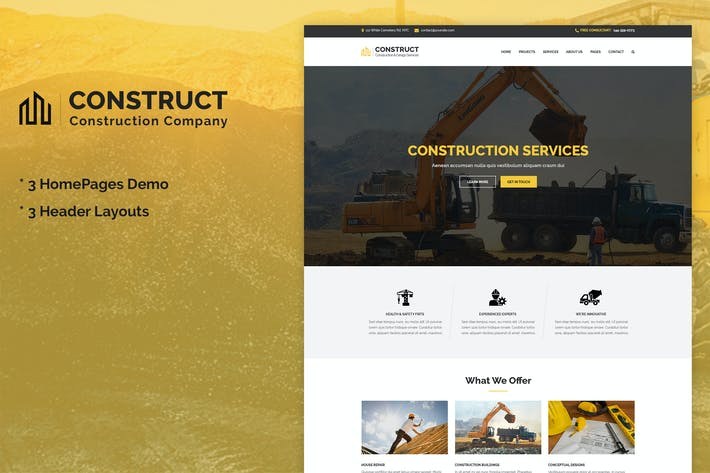Cover Image For Construct - Construction & Building Business