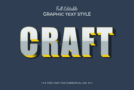 Craft - Editable Text Effect, Font Style