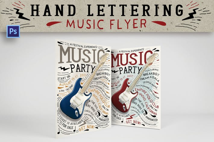 Thumbnail for Hand Lettering Music Flyer
