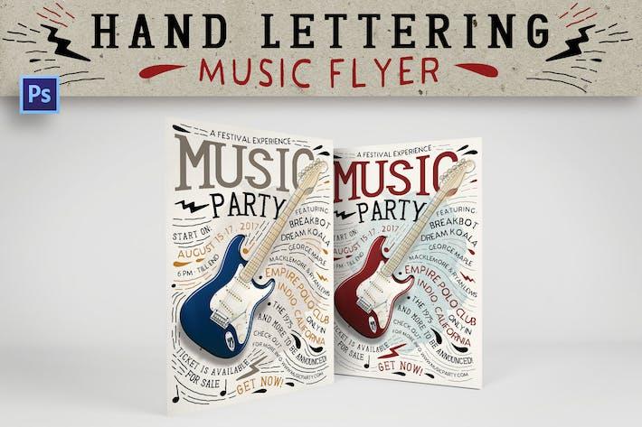 Thumbnail for Hand Lettering Music Flyer