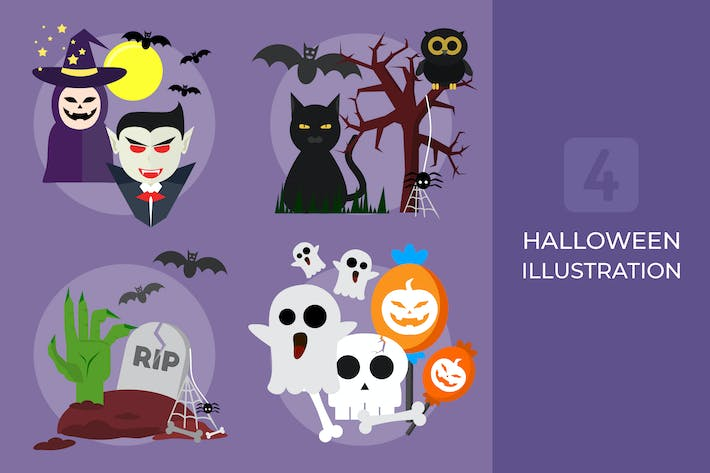 Thumbnail for Halloween Set - Vector Illustration