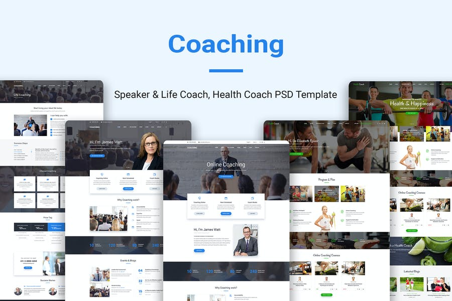 Coaching   Speaker & Life Coach, Health Coach PSD