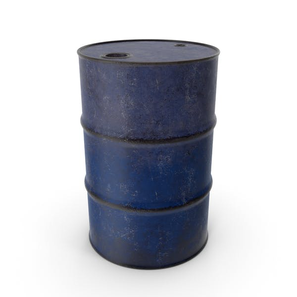 Barrel Metal Old Blue