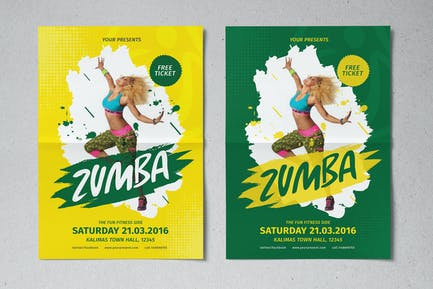 Zumba Party Flyer