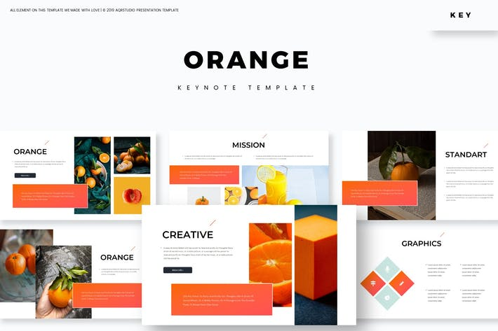 Оранжевый - Шаблон Keynote