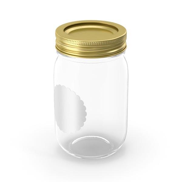 Empty Glass Jar with Cap