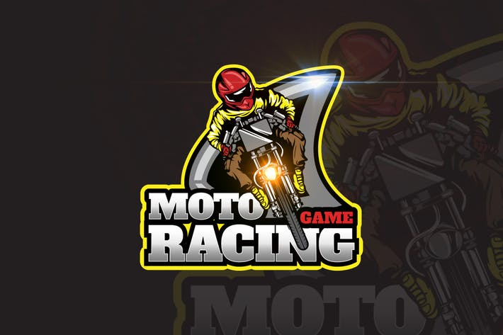 Moto Racing Mascot & eSports Gaming Logo