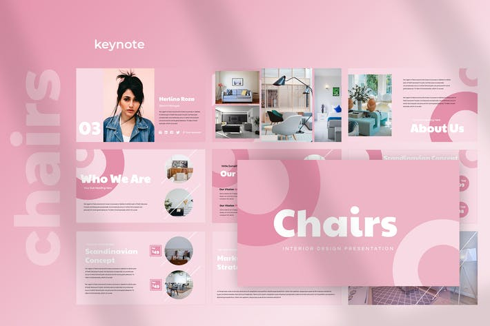 Thumbnail for Chairs - Furniture Keynote Presentation