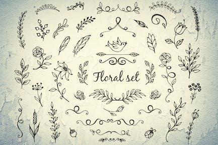 Doodle Foral Elements