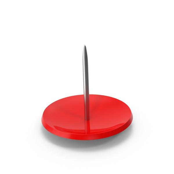 Красный Push Pin вверх ног