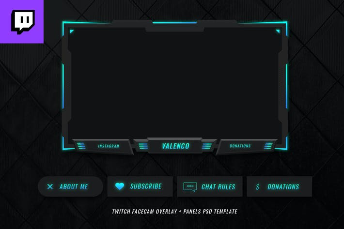 Thumbnail for Twitch Facecam Overlay V3