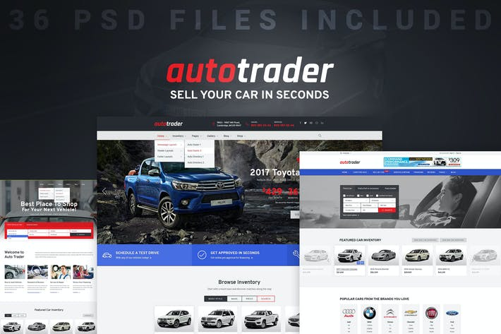 Thumbnail for AutoTrader - Car Dealer & Automotive PSD Template