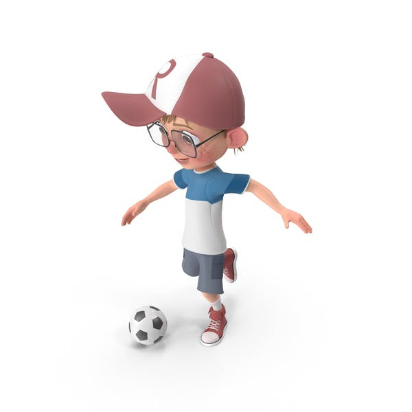 Thumbnail for Cartoon Boy Harry Playing Soccer