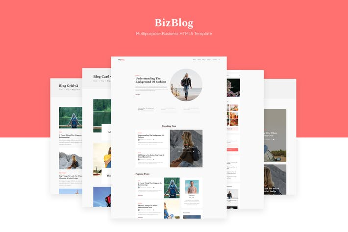 Thumbnail for Bizblog | Multipurpose Blog HTML5 Modèle