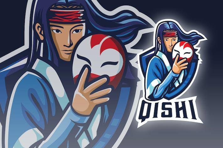 Thumbnail for Japanese Masked Warrior Esport Logo