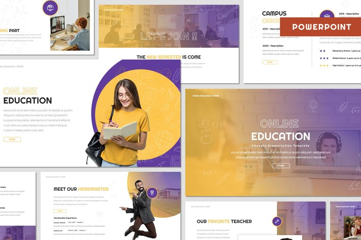 Thumbnail for Online Education - Powerpoint Template