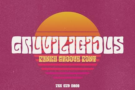 Gruvilicious - Fuente retro Groovy