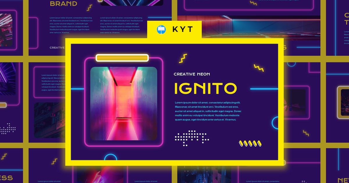 Download IGNITO - Neon Colour Keynote Template by inipagi