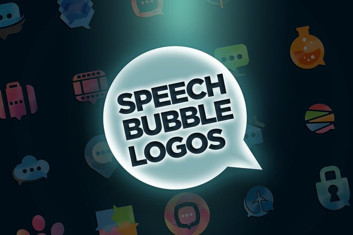 Thumbnail for 30 Speech Bubble Logos