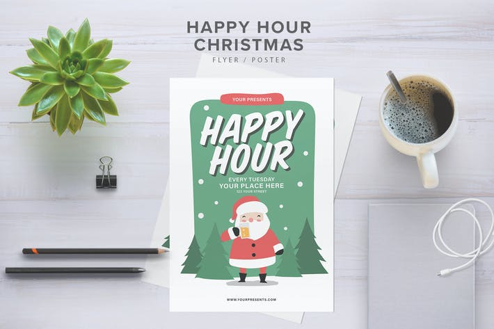 Thumbnail for Happy Hour Christmas Flyer