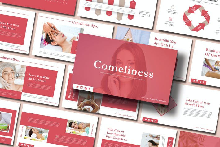 Thumbnail for COMELINESS - SPA Powerpoint Template