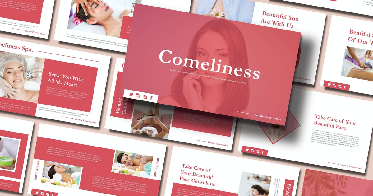 Download COMELINESS - SPA Powerpoint Template by joelmaker