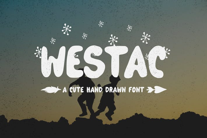 Thumbnail for Westac - A Cute Hand Drawn Font