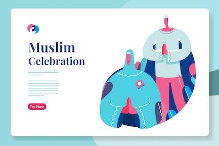 Muslim ramadhan or eid celebration