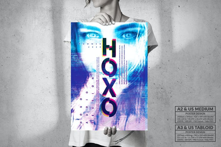 Thumbnail for HOXO Fluid Party  - Big Music Poster Design