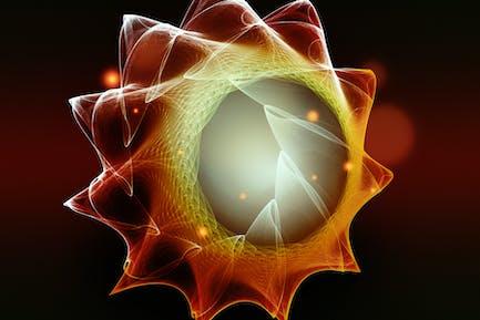 virus under a microscope view