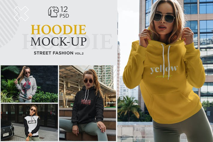 Thumbnail for Hoodie Mock-Up Street Fashion vol.2