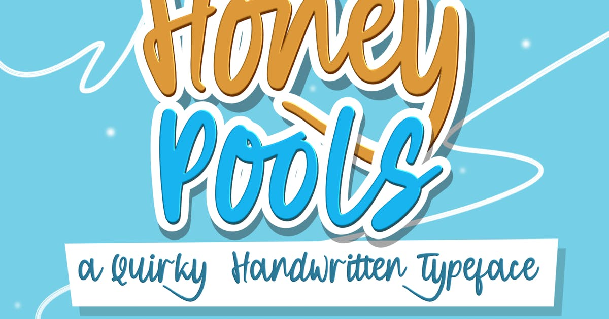 Download DS Honey Pools - Playful Typeface by allfridaystudio