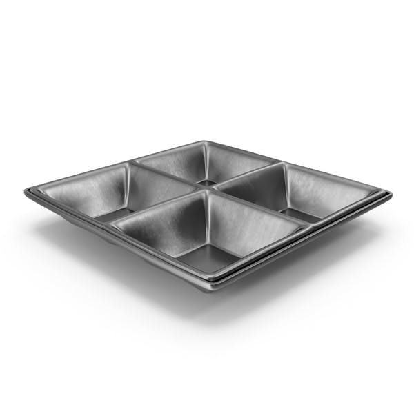 Metallic 4 Compartment Bowl