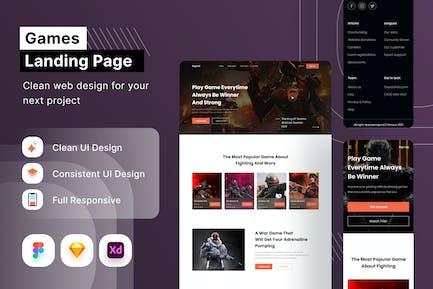 Spiele-Landing Page