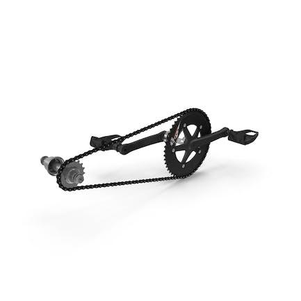 Велосипедная цепь с педалями