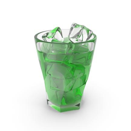 Líquido verde helado