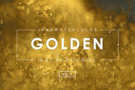 Goldene Tinte Hintergründe 9