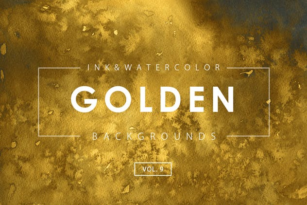 Golden Ink Backgrounds 9