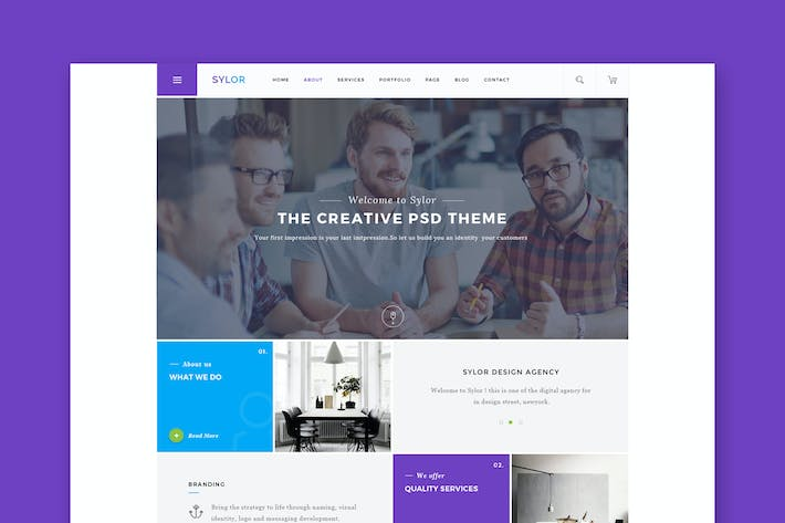 Thumbnail for Sylor - Agency/Portfolio HTML Template