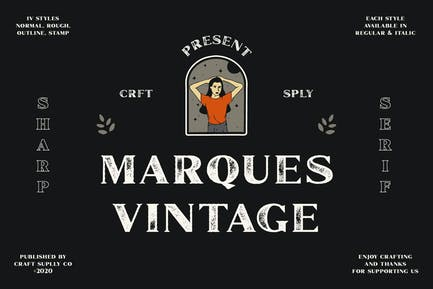 Marques Vintage Font Family