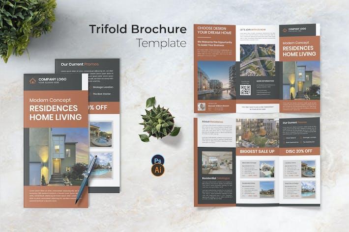 Residences Living Trifold Brochure