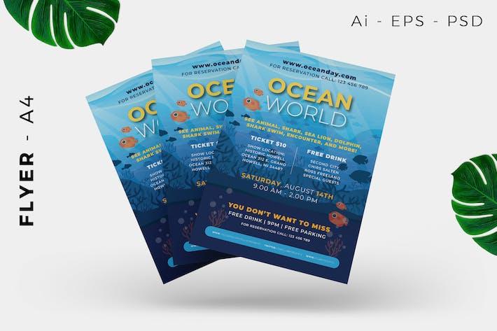Thumbnail for Ocean Concervation Flyer Design