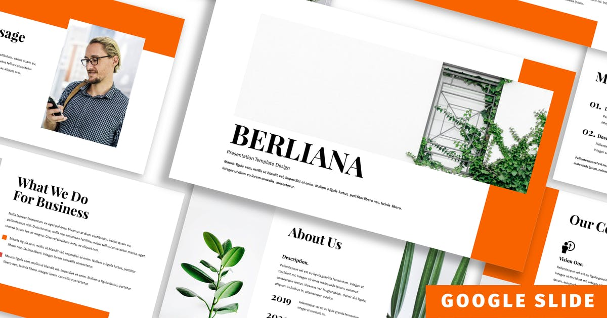 Download Berliana - Business Google Slide Template by Blesstudio