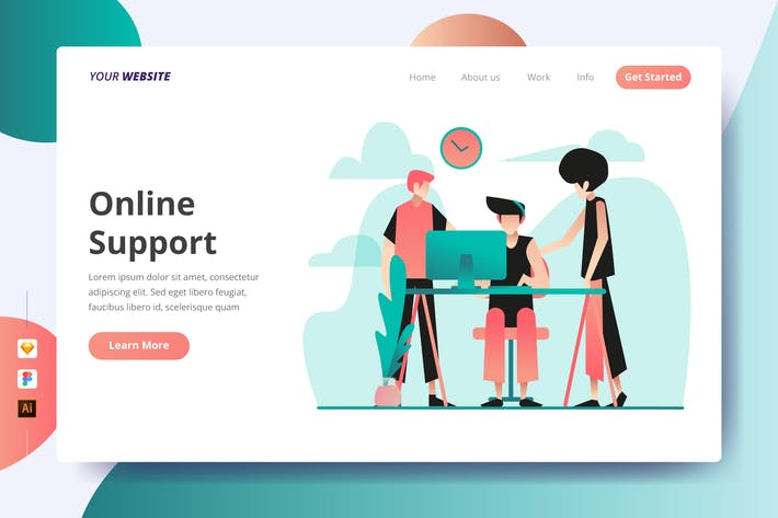 Thumbnail for Online Support - Landing Page