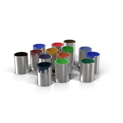 Cubos de pintura (latas)