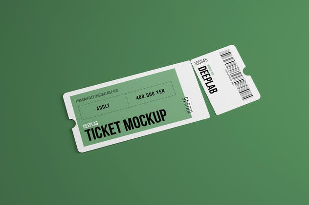 Event Ticket Mockup - product preview 1