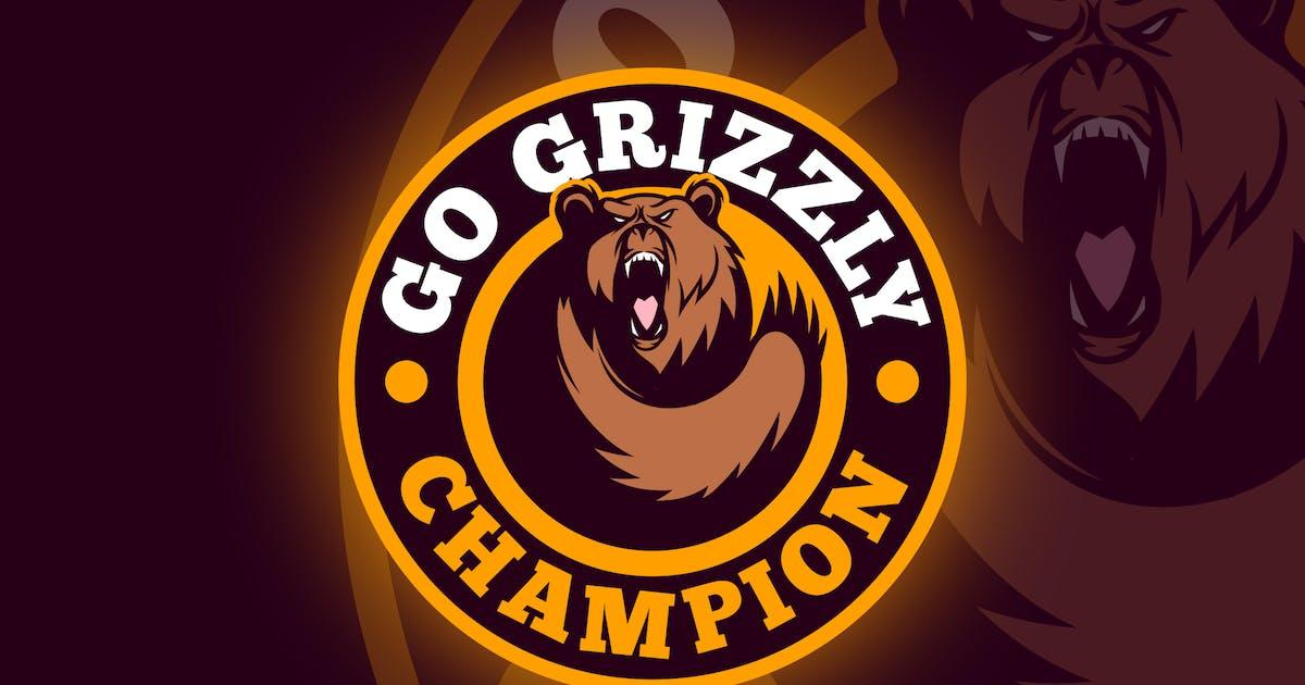 Download Bear Emblem - Sporty Dynamic Bear Logo by Suhandi