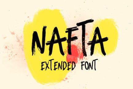 Fuente de marcador extendido Nafta