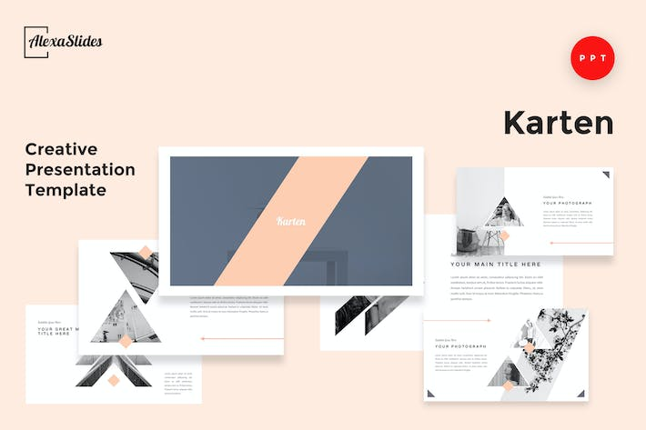 Thumbnail for Karten - Creative Powerpoint Presentation Template